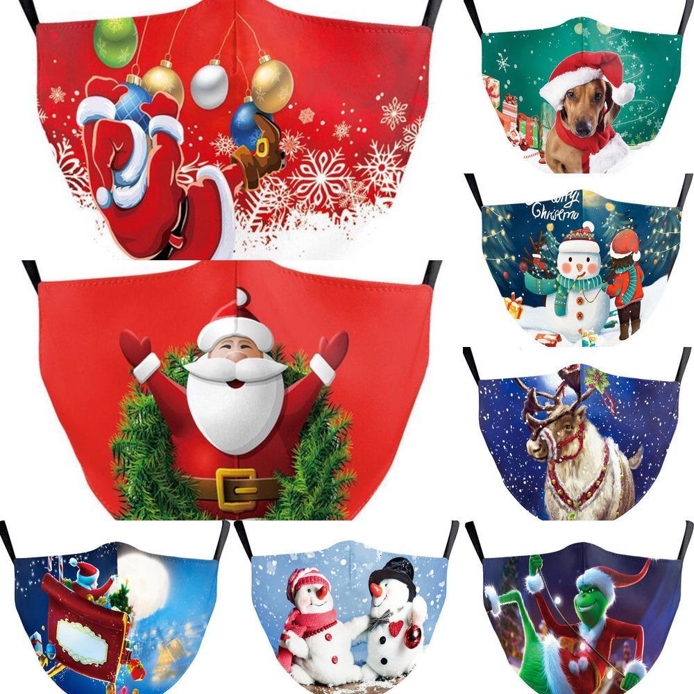 Mode 3d Noël Adultes Enfants Halloween Party anti-poussière réutilisable bouche lavable couverture d'impression de Noël Vente visage