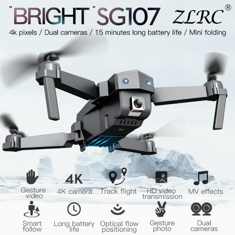4K WIFI 1080P FPV 카메라 RC 드론 2.4GHZ 쿼드 콥터 광학 흐름 Quadrocopter 카메라 장난감 VS E58 E68와 ZLRC SG107 미니 드론