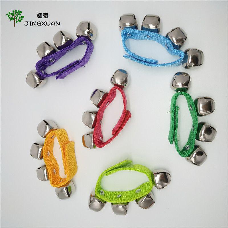 Детские ручные наручные колокольчики игрушка Jingles Shake Percussion инструмент детей ранние образовательные танцующие игрушки для футбола для ног музыкальный инструмент