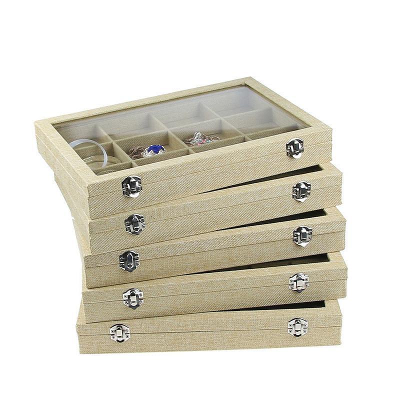 Bolsas de joyería, bolsas Mostrar anillo bandeja organizador caja de joyería Soporte Soporte Soporte Jewlery Pulsera Bandejas