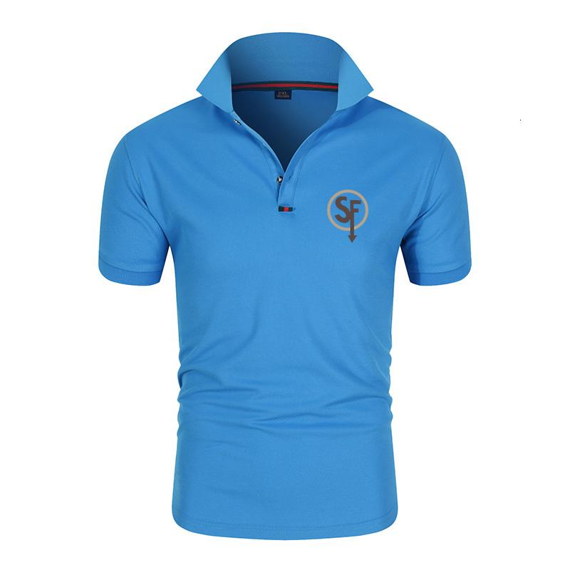 Été Nouveau Coton Respirant Impression occasionnelle Homme Polo Chemise Courte Sleeve XL M-4XL
