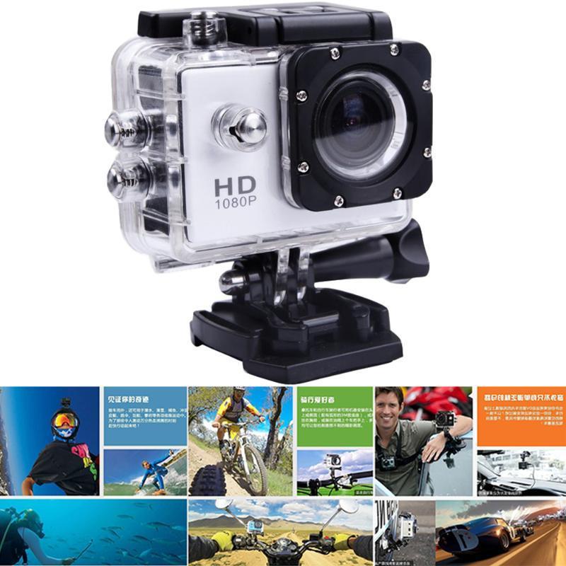 480P Мотоцикл тире Спорт Действие видеокамеры Мотоцикл Dvr Full HD 30M водонепроницаемый, белый