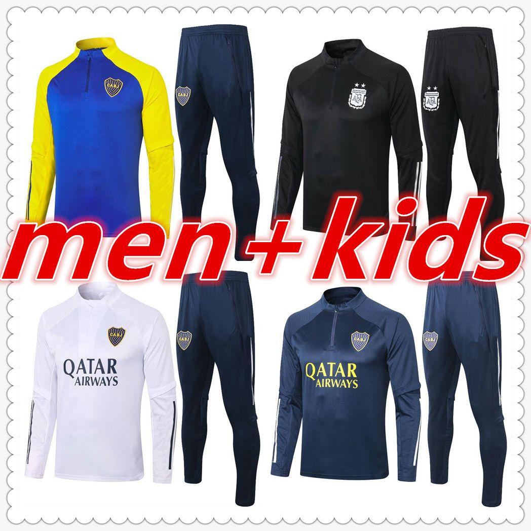 argentina boca juniors maradona mens designer tracksuits 2020 2021 football tracksuit soccer tracksuit chandal futbol survetement foot player version