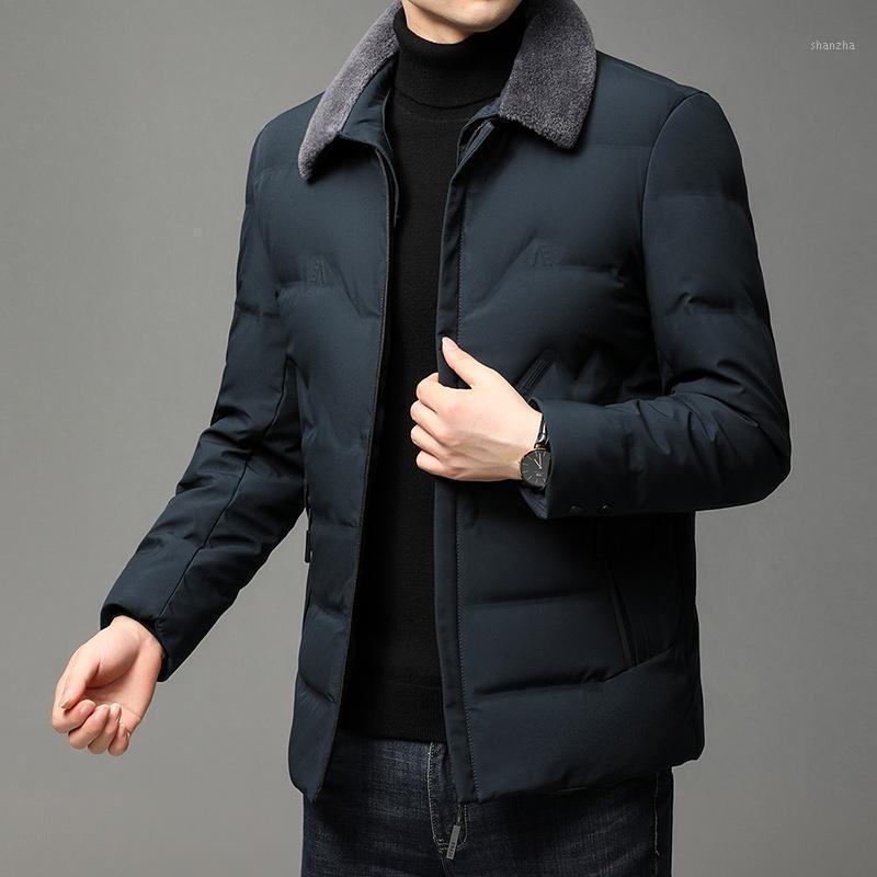 2020 inverno nova marca casual moda colhida mens acolchoado jaqueta com pele parka jaqueta windbreaker baiacava casacos roupas1