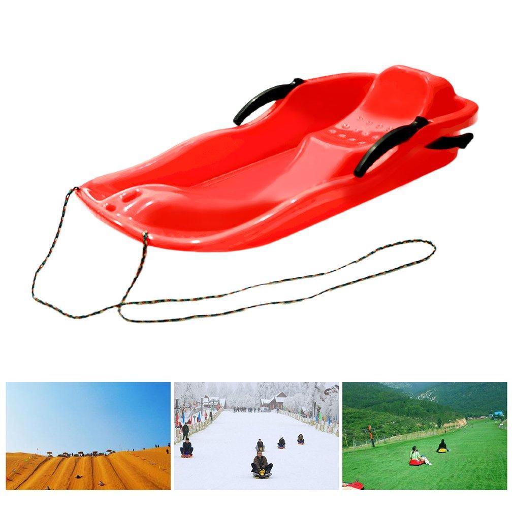 7 Couleur Sports de plein air en plastique Planches ski de traîneau Luge neige Herbe Conseil Sable Ski Pad Snowboard Avec Corde Pour Double Personnes