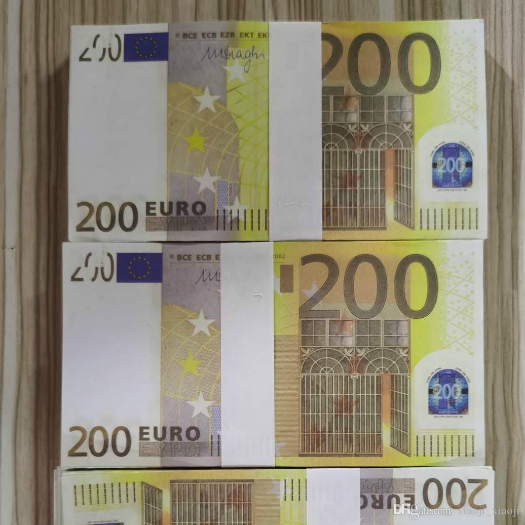 Más realista festivo 13 juegos dinero juguetes de dinero props propos Euro Papel Party Faux Billet Barra Barra Billet Toys Coin CRRFS