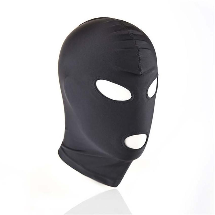 Bondage adulto máscara de olho produto fetiche capô qtirr sm preto casal para homens eeox jogo escravo brinquedo mulheres bdsm intuko boca dhbre