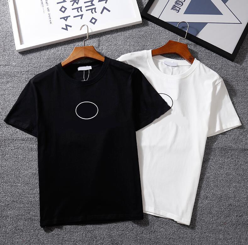 2021 Hot Mens T Shirt con letra impresos Hombres Mujeres Moda de verano Camiseta de manga corta Cuello Cuello Casual Camiseta Homme Ropa S-2XL