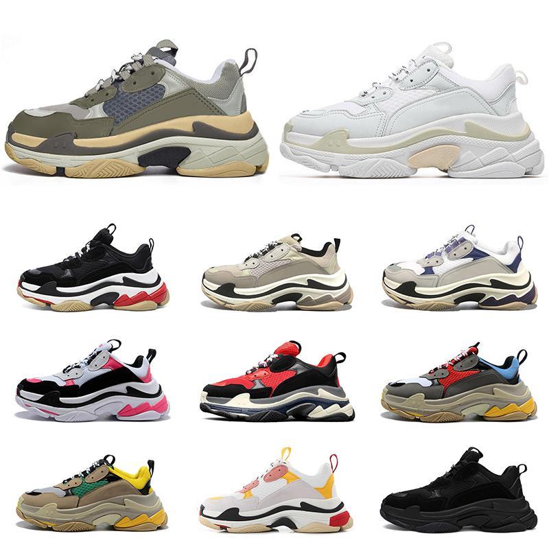 2020 triple s clear único moda tênis de luxo sapatos de grife para homens mulheres plataforma preto branco vermelho azul mens trainer sports shoe