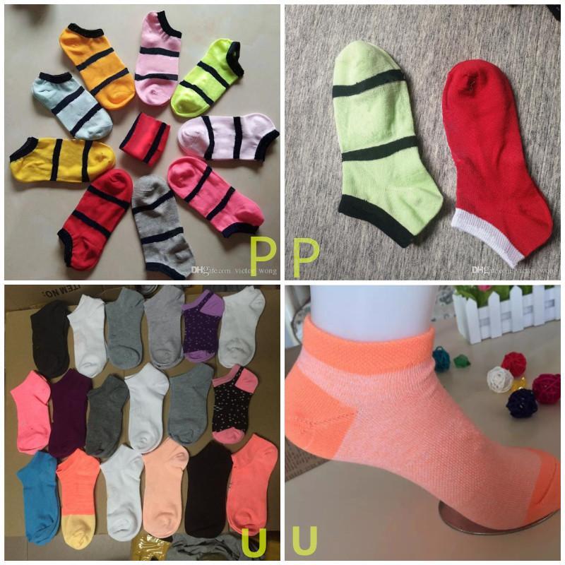Black e Unkle Socks Sports Cheerleaders Curto Algodão Sock Unisex Mulheres Algodão Esportes Mistura Mistura Cor-de-rosa Meias de cor em estoque