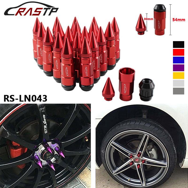 Rastp -Multi وظيفة مكافحة سرقة سباق السيارات الإطارات سبايك العروة المكسرات، JDM Sytle بأكسيد عجلة عجلة عجلة المكسرات M12 * 1.5MM RS-LN043