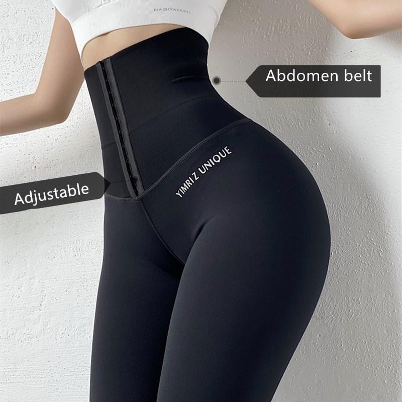 encolher abdômen cintura alta calças Yoga Workout legging Sports Mulheres de Fitness Gym Leggings Correndo Training calças justas Activewear