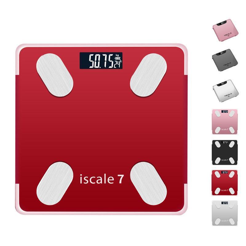 Bluetooth Body Fat Scale Piso Scientific inteligente Eletrônica Digital LED Peso Banho Balance Bluetooth APP Android ou IOS