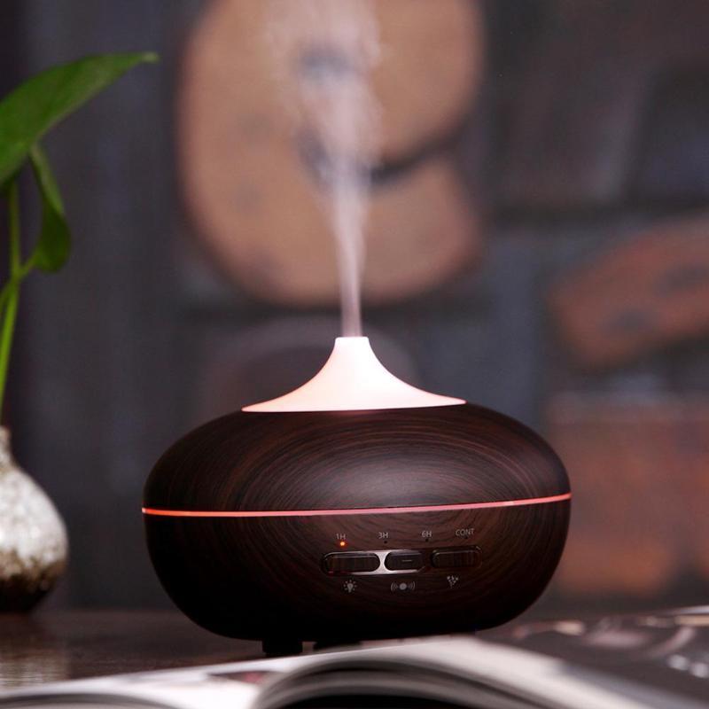 Wood Grain Увлажнитель воздуха 7 цветов Изменение 500мл масло Диффузор для дома