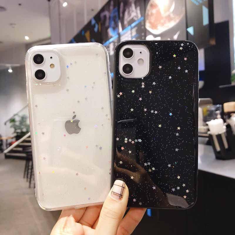 Star Shining Romantic Shiny Sparkling Glitter Clear Soft TPU Phone Case For iPhone 11 12mini Pro Max XS Max XR 8 7 6S Plus
