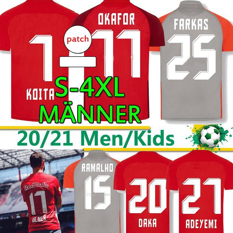 2020 2021 Зальцбургские чемпионы версия футбол для футболки 20 21 RBS Szoboszlai Sucic Daka Koita Menner Männer Униформа футбол Футбол Униформа