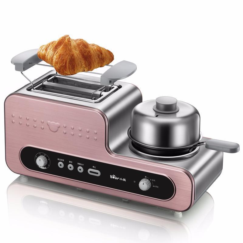 Bär 3 in 1 Frühstückshersteller Toaster Home Breakfast Toaster Tug Driver vollautomatisch Toast