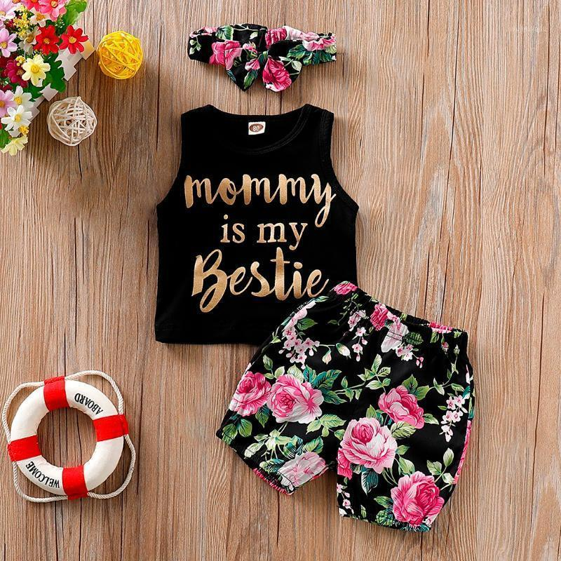 Baby Girl Clothes Short Sleeve O-neck Vest Baby Girl Summer Clothes Floral Shorts 3pcs Outfit Ubranka Dla Niemowlat1