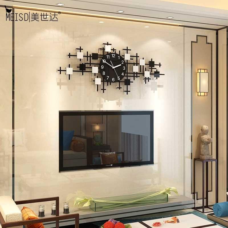 Meisd Große schwarze Acryl Wanduhr Dekorative Uhr Modern Design Wohnzimmer Wohnkultur Quarz Silent Horloge Kostenloser Versand