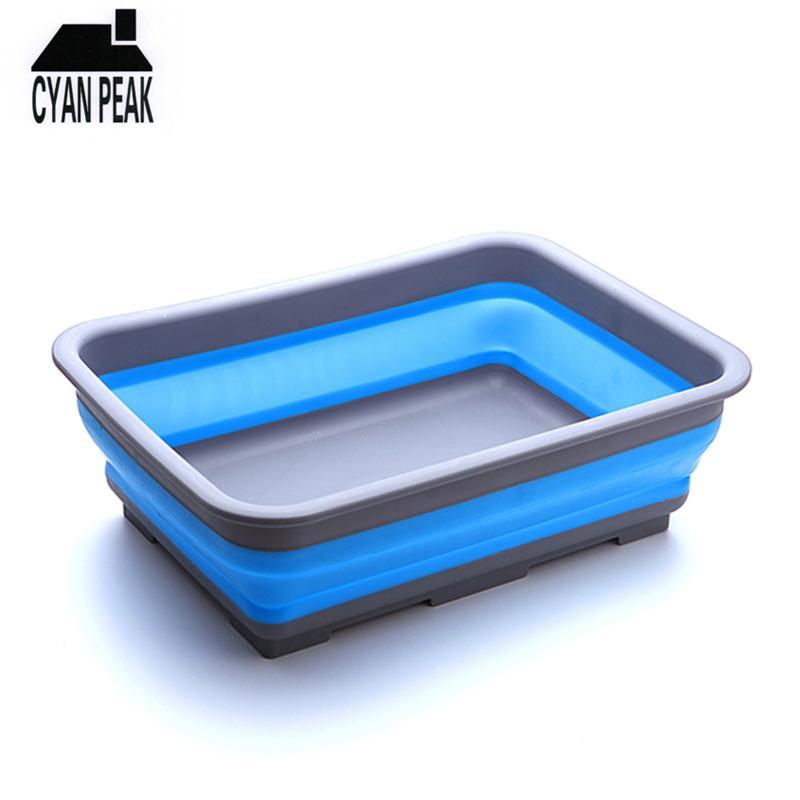 سيليكون المنظم المنظم للطي أشتات تخزين مربع الفواكه المطبخ قابل للغسل لعبة الحيوانات الأليفة سلة تغذية 201022