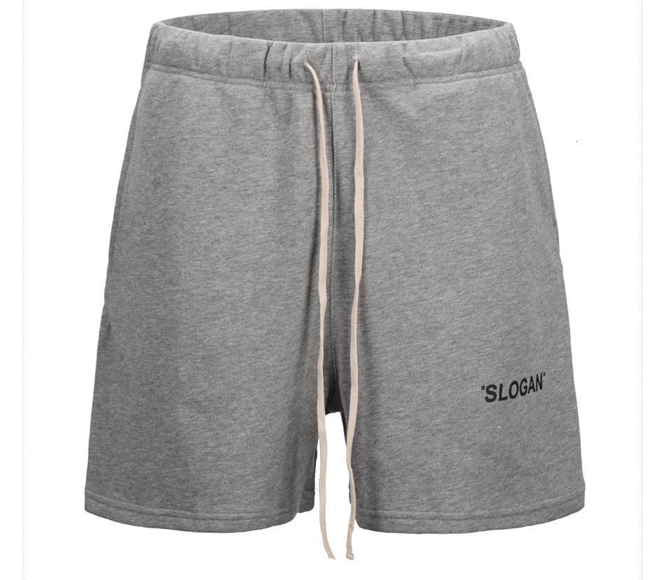 Lettere di fitness di cotone homme stampa lamina da jogging ginocchio lunghezza elastica vita rilassata estate moda vendita calda vendita pantaloncini stile casual