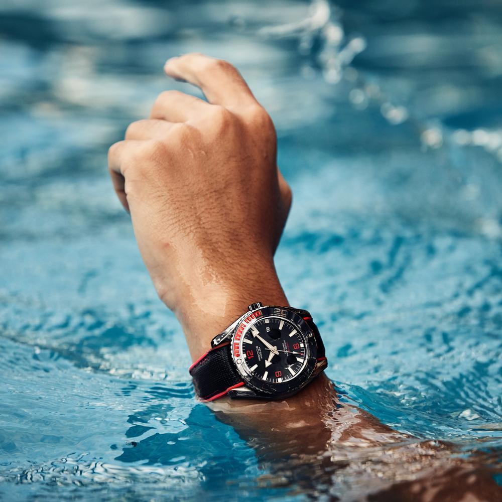 Rocos professionale Diver 10 ATM impermeabile movimento automatico orologio da polso Fashion Sport freddi della vigilanza degli uomini r0146
