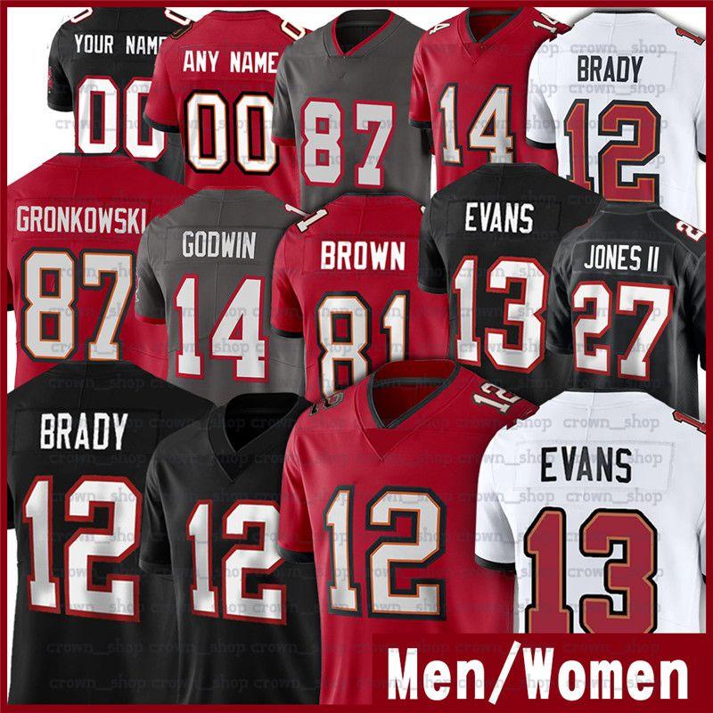 12 Tom Brady 13 Mike Evans 87 Rob Gronkowski 14 Chris Godwin Ronald Jones II 81 Antonio Brown Winfield Devin White Alstott Football Jerseys