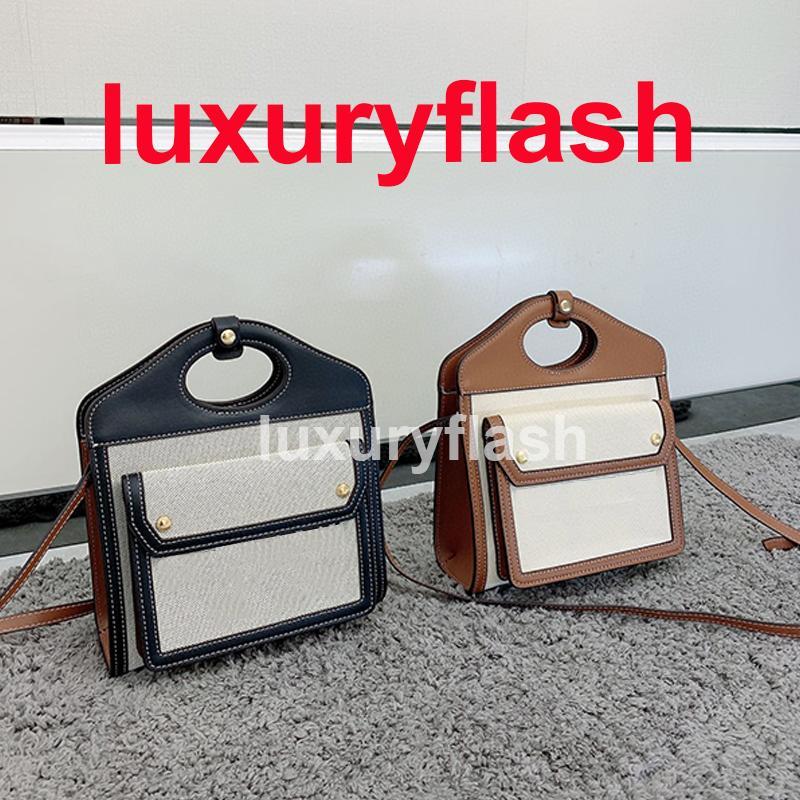 Mini lona de dois tons e bolso de couro saco gráfico mulheres designers luxury bolsas ombro crossbody bolsa de alta qualidade por atacado
