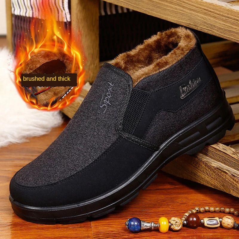 Warm Boots Men Work Winter Cotton Shoes For Men Big Size 48 Comfort Men'S Boots Casual Winter Shoes Male