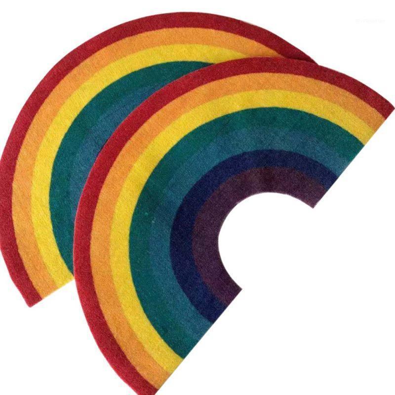 Nueva Zona de arco iris de la alfombra de la alfombra de la alfombra de la alfombra de la alfombra decorativa de la alfombra decorativa de la cocina de la cocina del dormitorio de la sala de estar de la cocina