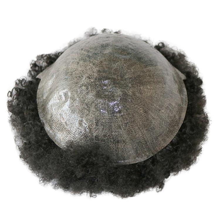 Dünne haut männer toupee v loop 8x10 menschliche haare toupees dicke 0.02-0.04mm ng haarperücken mann toupee pu schwarze herren toupee