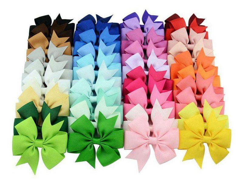 40 couleurs choos design mignon arcs d'arcs de cheveux pour enfants filles enfants bébé barrettes