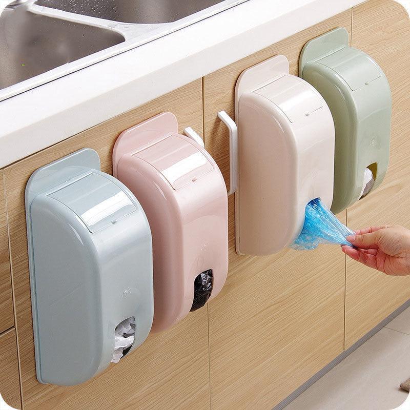 حقيبة القمامة المثبتة على الحائط المدمجة البلاستيك تخزين مربع المنزل الحطام الفرز مربع البلاستيك حقيبة حذاء غطاء المنظمون المطبخ التبعي 201022