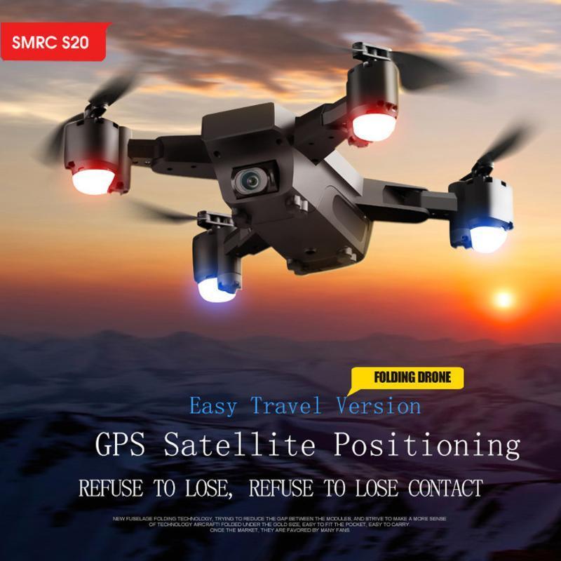 الطائرات بدون طيار SMRC S20 1080P 120 ° زاوية واسعة wifi fpv 2.4 جرام gps rc لعبة quadcopter طوي طوي طائرة هليكوبتر الطائرات quadrocopter اللعب