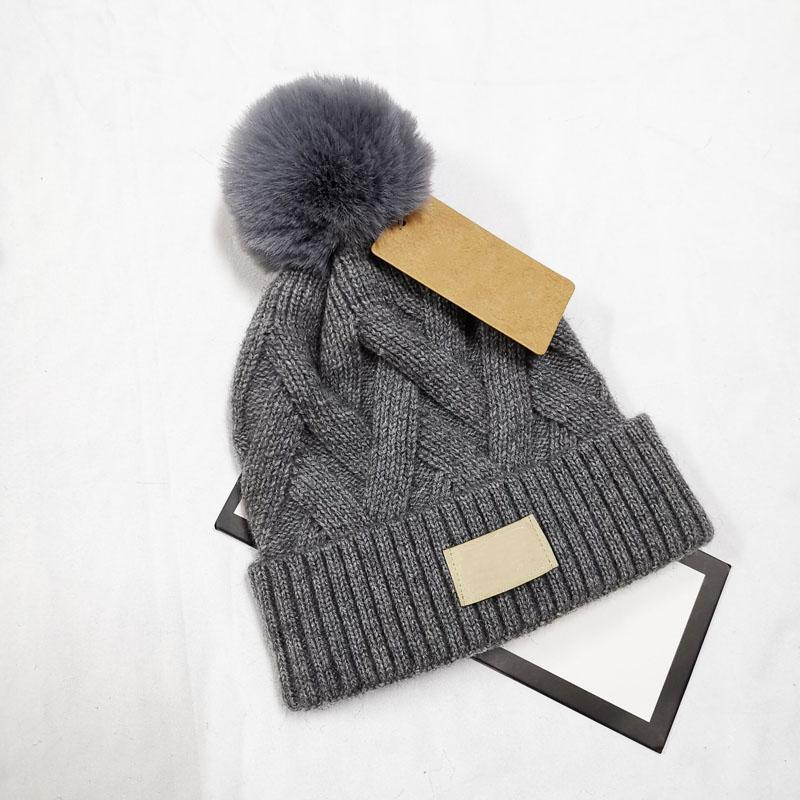 6 Colors Fashion Women Crochet Winter Caps Warm Soft Beanies Brand Men Knitted Hats Will Ball 140g Wholesale
