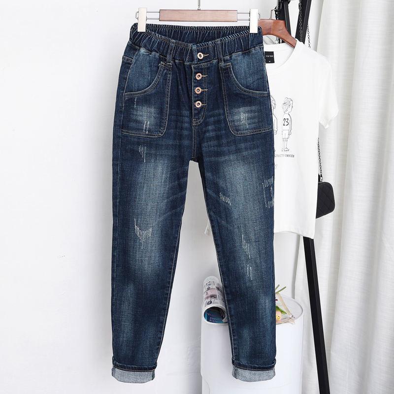High Waist Jeans Women Vintage Plus Size Jeans Femme Harem Pants Loose Boyfriend Denim Jeans Streetwear Trousers Women LJ201125