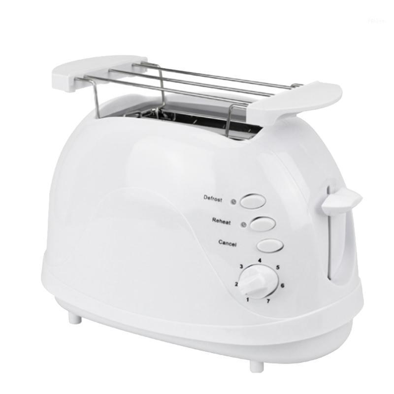 Machine à pain électrique automatique Machine à pain Toast Sandwich Grill Four Maker 2 tranches ménage pour petit déjeuner UE Plug1