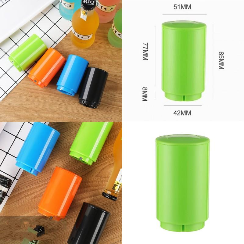 Beer Bottle Opener Originality Home Furnishing Bar Pure Color Automatic Pressing Openers Hot Selling With Black Blue Orange Colors 3 5mc J1