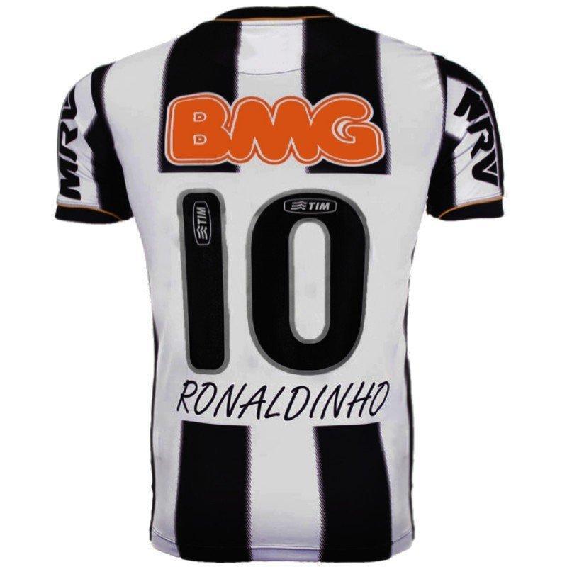 Retro 2013 Ronaldinho Kısa Kollu Klasik Erkekler Gömlek Vintage Formalar X1214