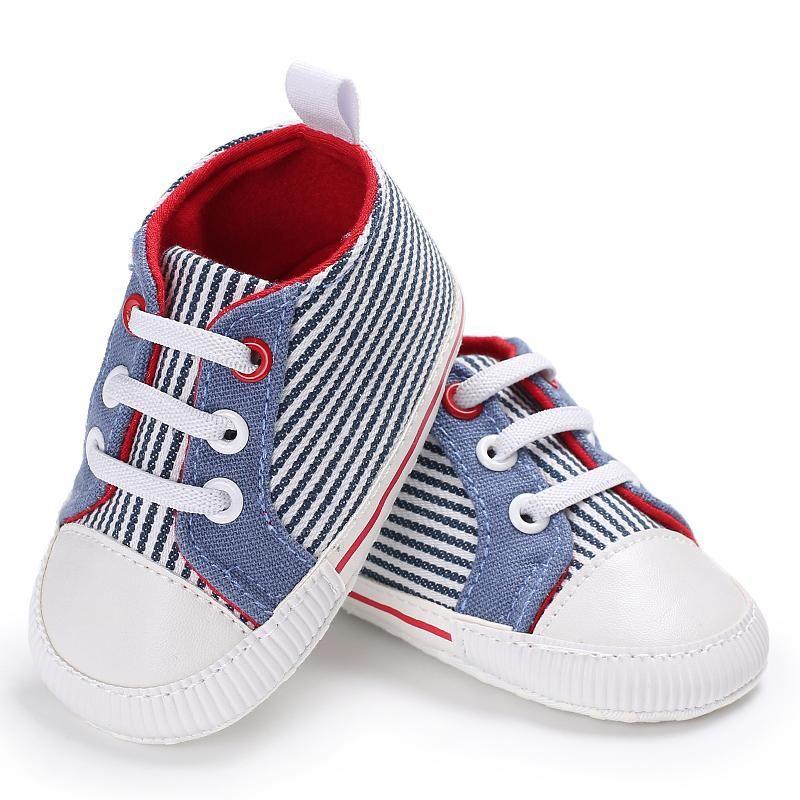 First Walkers Prewalker Baby Striped Canvas Sport Boys Boys Shoes Младенцы Дети Девушки Пинетки Firstwalker Кроссовки Кроссовки для детей Модный