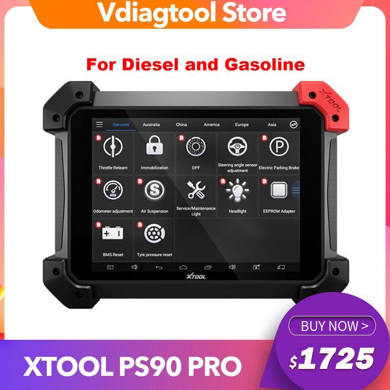 XTool PS90 Pro Hochleistungs-Diagnosetool für Auto / Truck / Diesel / Benzin OBD2-Schlüsselprogrammierer Kilometerzähler-Anpassung Gut als X431