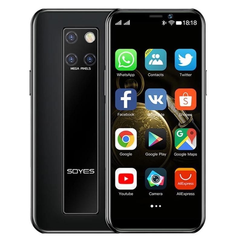 Original New Soyes S10-H Mini Mobiltelefone 4G LTE 3GB 64GB MTK6379 Gesichtserkennung Android 9.0 High-End 3,5 '' Smartphone Telefonkeller