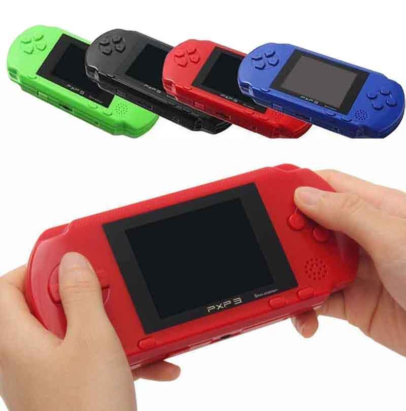 PXP3 휴대용 핸드 헬드 게임 콘솔 슬림 역 8 비트 레트로 비디오 게임 플레이어 게임 박스 카드 캔 스토어 (150) 클래식 게임 PK SUP PVP PSP