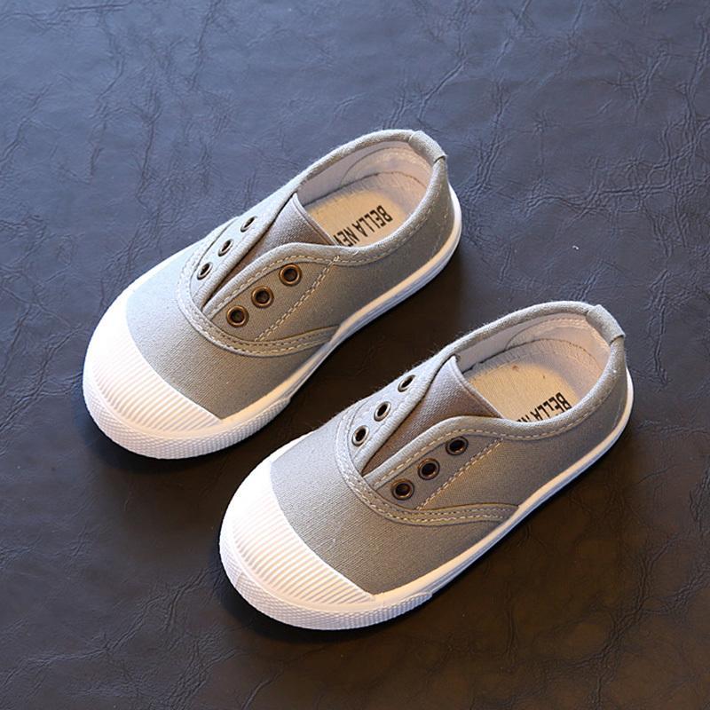 2020 Весна Лето Детская обувь для мальчиков девочек стелька 13.5-18CM цвета конфеты для детей Повседневная Холст кроссовки Soft Мода Обувь C1002