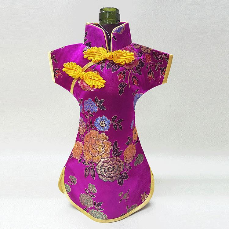 Borsa raso di seta cinese annata per i vini bottiglia vestiti bottiglia etnica Craft Custodia protettiva di copertura di nozze Decorazione della tavola Packaging Bag