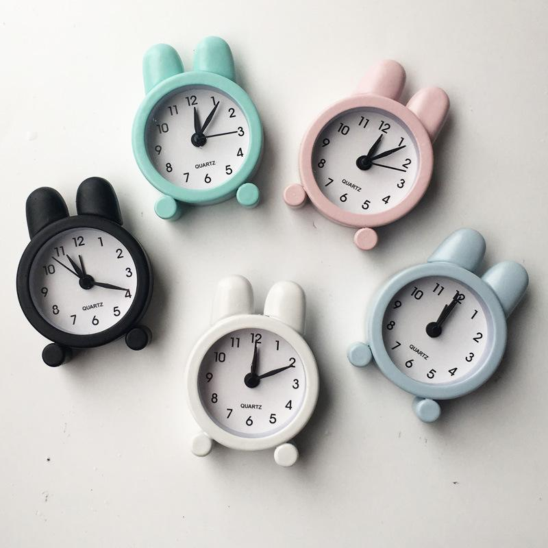 Çalar Saat Dijital Sevimli Çalar Saat Tavşan Mini Saatler Şeker Renk Çalar Saat Öğrenci Hediye