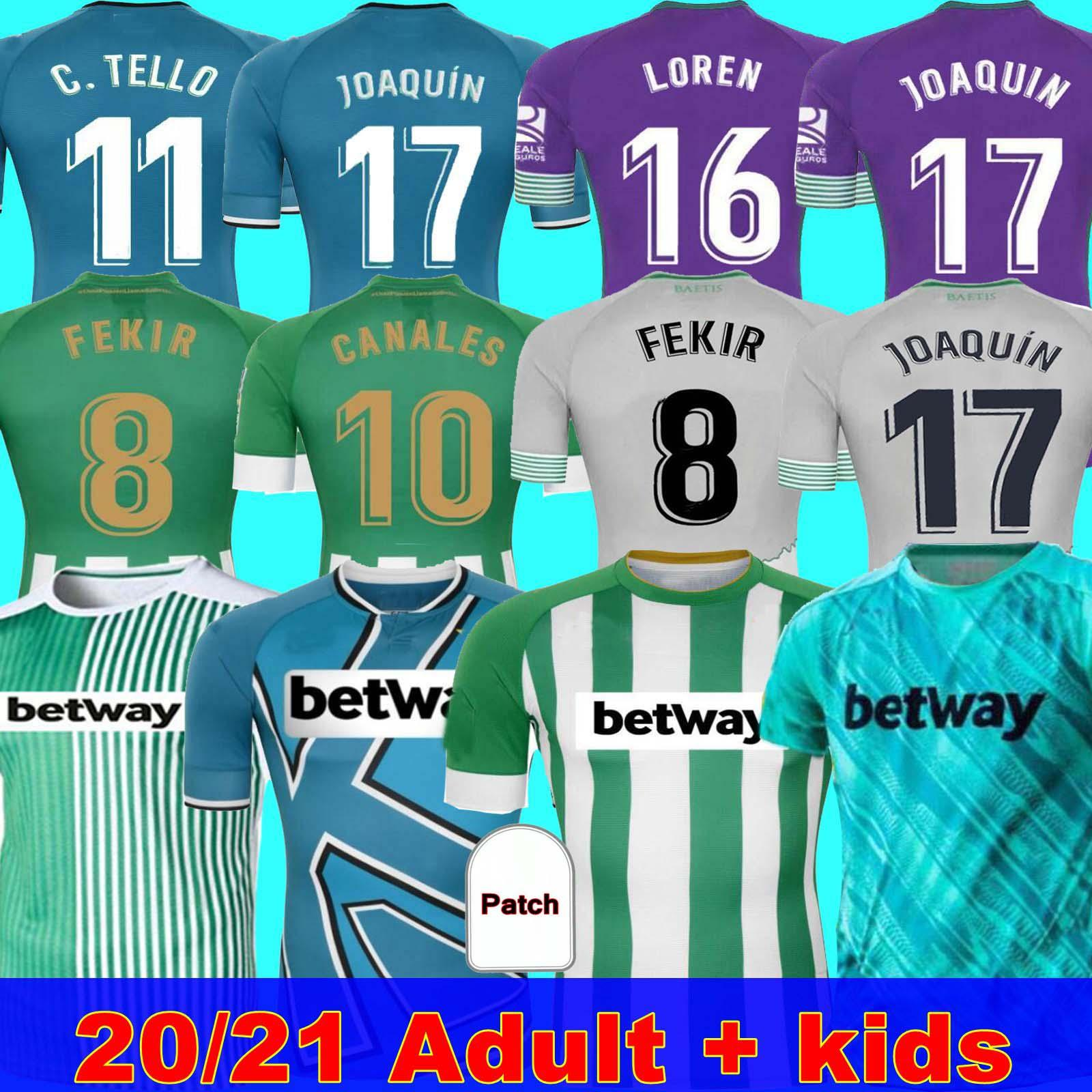 Camiseta de fútbol MAN + KIDS 20 21 Real Betis JOAQUIN Loren Boudebouz MANDI BARTRA TELLO GARCIA CANALES edición conmemorativa Fekir 8