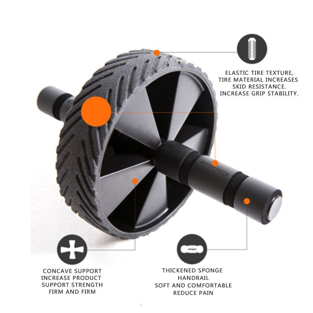 Equipo de ejercicio muscular Equipo de aptitud de la casa de la rueda de una sola rueda de la rueda abdominal de la rueda de la rueda de la rueda del roller del rodillo del rodillo de la rueda del gimnasio.