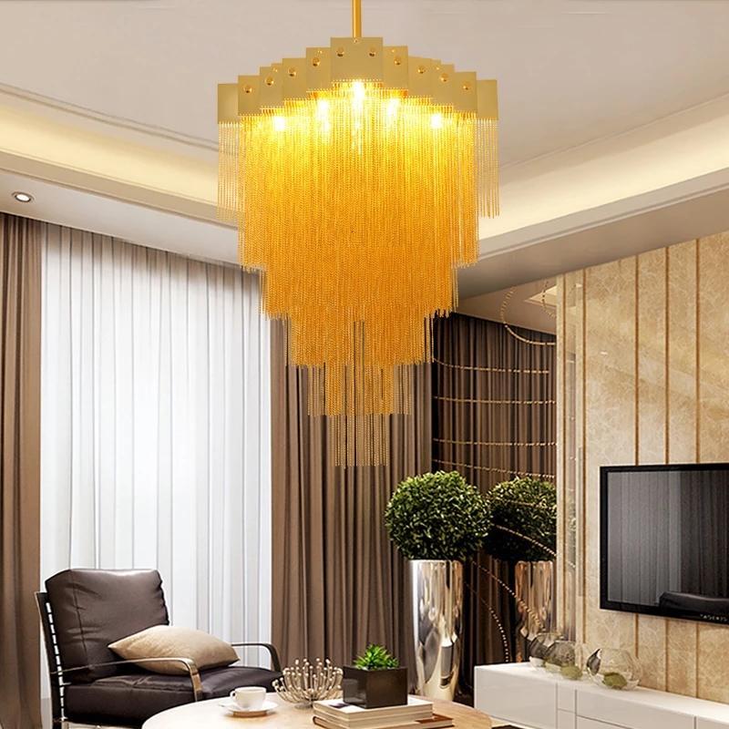 Moderna Lampadari europea LED Illuminazione G9 placcato Luster Ferro Oro Chandelier per Soggiorno Cucina Camera Hotel Villa