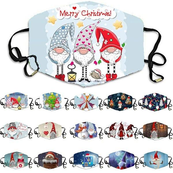 Рождественские маски дизайнерские маски смешные Facemask Masque рождественские украшения для взрослых маски для лица Maccherina Reousable Mask с бесплатной доставкой